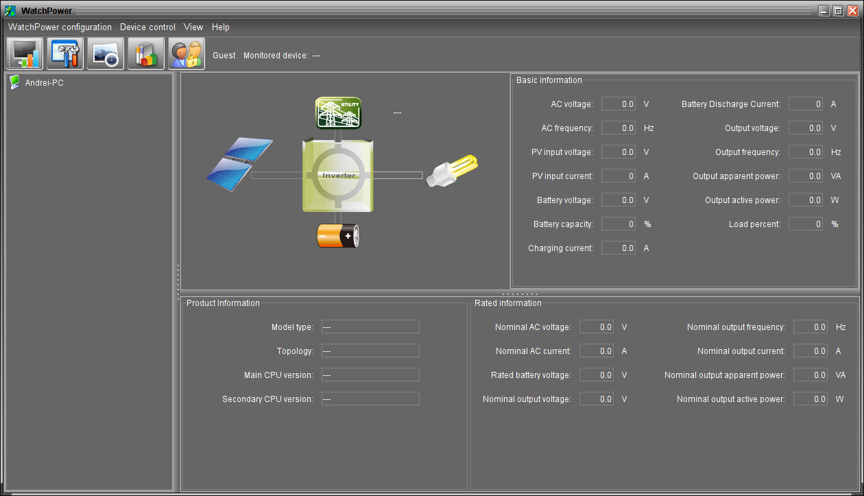 Power Monitoring Software : Monitoring voltronic power axpert mex inverter under linux